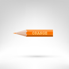 Orange color pencil with golden text