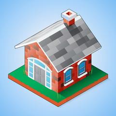 Isometric Brick House