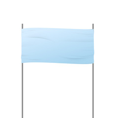 Advertising road banner sign isolated