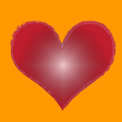 Vector silhouette of heart.