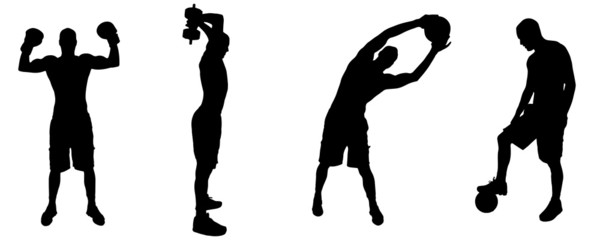 Vector silhouettes of people.
