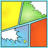 Fototapety Pop-art comic page sheet template