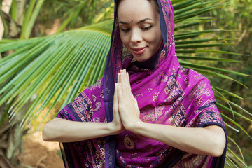 Girl in sari