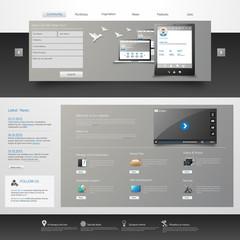 Modern clean Business Website Template Design EPS 10