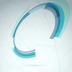 Blue spin round element abstract tech background