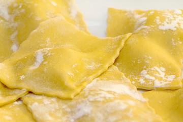 fresh raw home made ravioli