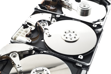 hard disks in a row