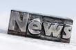 News in Bleibuchstaben