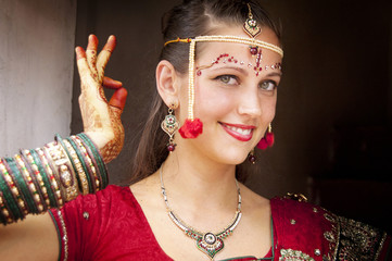 Beautiful western bride in India