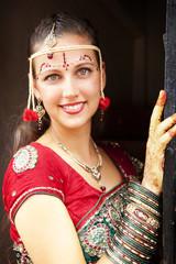 Beautiful western bride in India