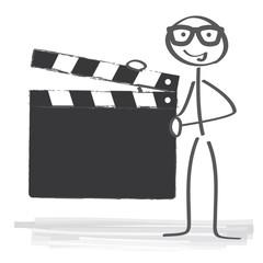 Regisseur hält Filmklappe