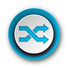 aleatory blue modern web icon on white background