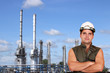 worker and petrochemical plant oil industry