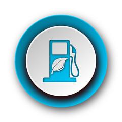 biofuel blue modern web icon on white background