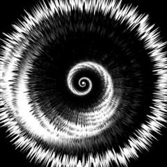 Design monochrome twirl rotation background