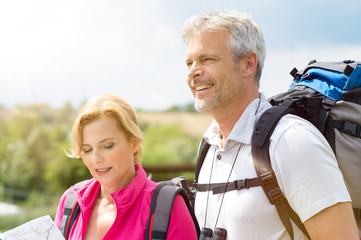 Mature Couple Hiking Together