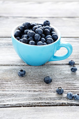 summer berries in a cup - blueberries