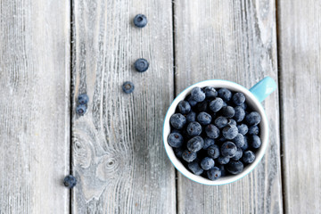 fresh berries in a cup - blueberries