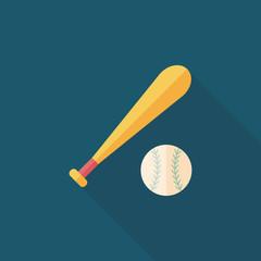 baseball flat icon with long shadow,eps10