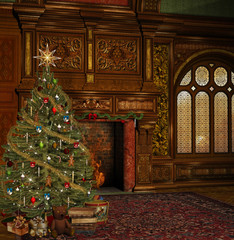 Enchanted christmas room