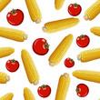 corn vector seamless pattern