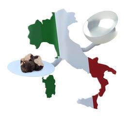 Italian truffles concepts