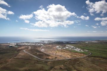 Lanzarote - Luftaufnahme von Costa Teguise