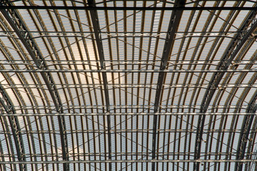 Kings Cross Railway Station roof, London