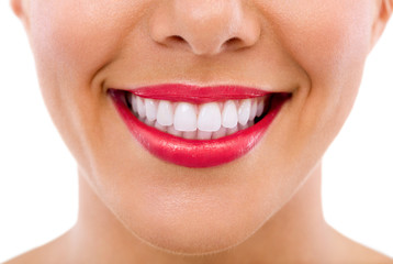 Healthy female teeth and smile