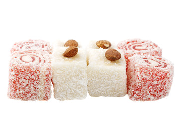 delight with coconut, Cherry and almonds