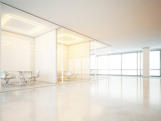 Office interior with panoramic windows