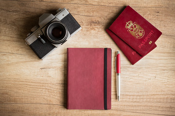 Photo camera and passport