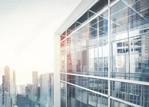 canvas print picture Modern office building facade