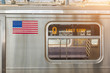 United States Flag on a Subway Train - 71168477