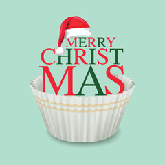 Cup Cake, Merry Christmas, Typography