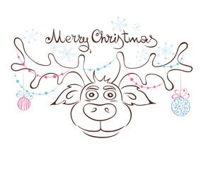 Funny Christmas Reindeer
