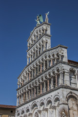 Facade of the San Michele in Foro in Lucca