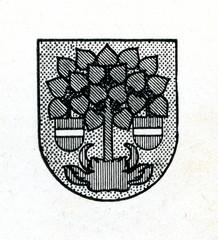 Coat of arms of Valmiera, Latvia ca. 1930