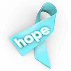 Hope Word Ribbon Cancer Disease Awareness Fund Raiser