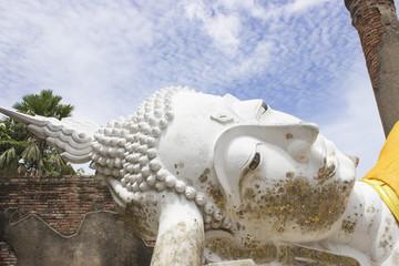 Reclining Buddha  at Ayutthaya Province