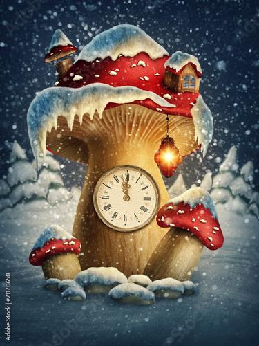 Fantasy mushroom house - 71170650