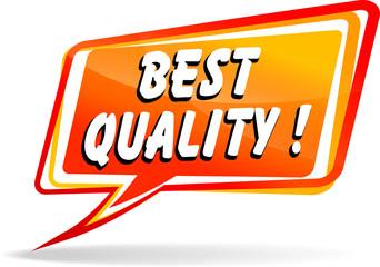 Vector best quality speech bubble