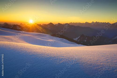 High mountain during sunrise. Beautiful natural landscape © Biletskiy Evgeniy