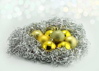 nest of Christmas toys