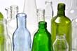 Leinwandbild Motiv Botellas de vidrio