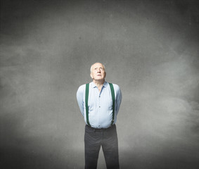 old man forgiveness with god concept