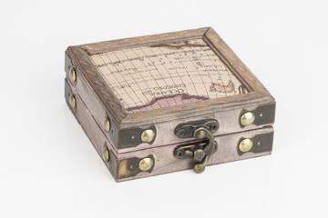 Box with padlock - Stock Image macro.