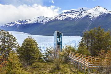 Modern elevator by Perito Moreno Glacier, Los Glaciares National