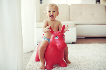 Toddler at home
