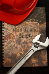 Red helmet and spanner